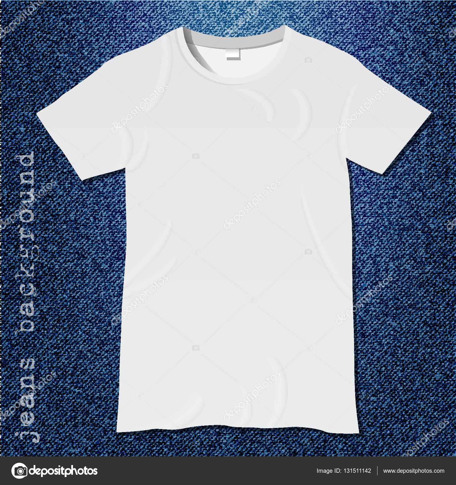 weiße leere T-shirt-Vorlage — Stockvektor © A-R-T-U-R #131511142