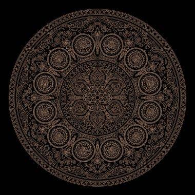 Delicate mandala pattern in boho style