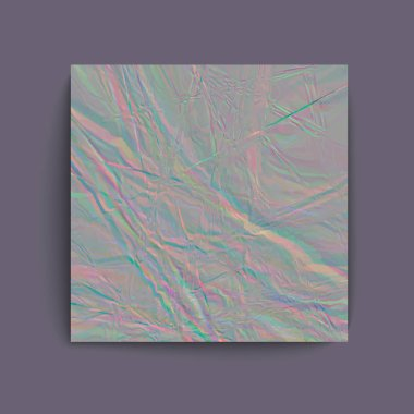 Holographic grey foil abstract pattern