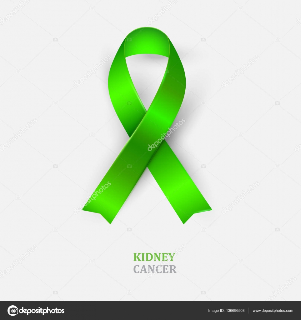 Green Ribbon Kidney Cancer Awareness Stock Vector A R T U R