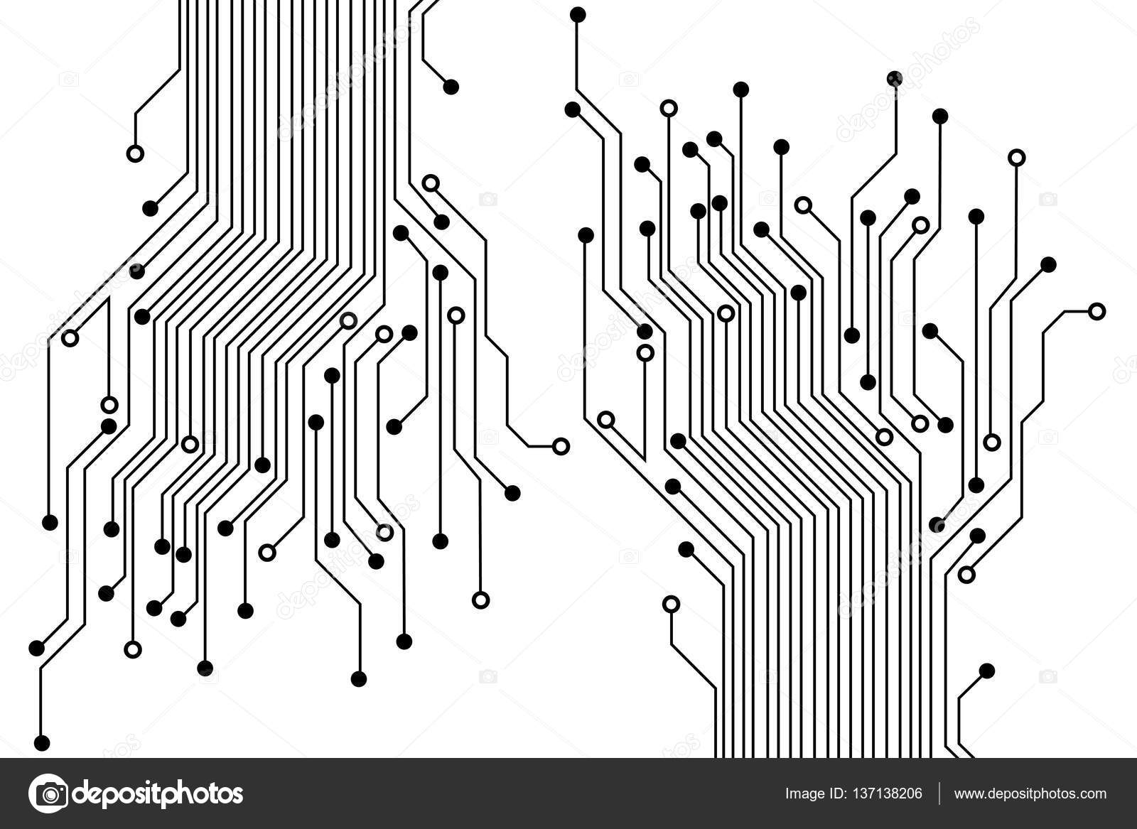 Abstract circuit board background — Stock Vector © A-R-T-U-R #137138206