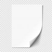 oldal göndör üres papírlapra