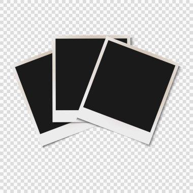 Blank old photo frames