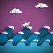 Fényképek Origami papír-hullámok