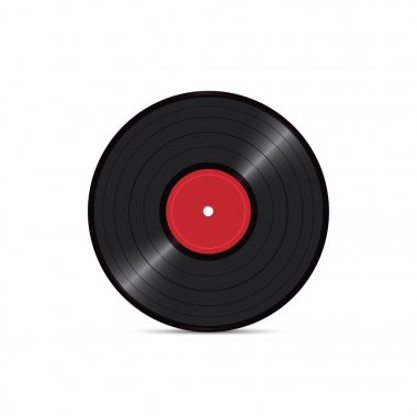 Black vinyl disk record