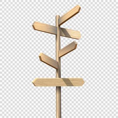 Wooden arrows on signpost