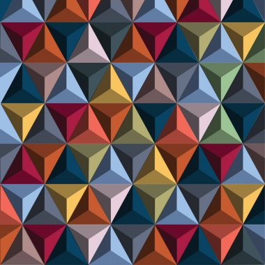 Multi Color pyramids pattern