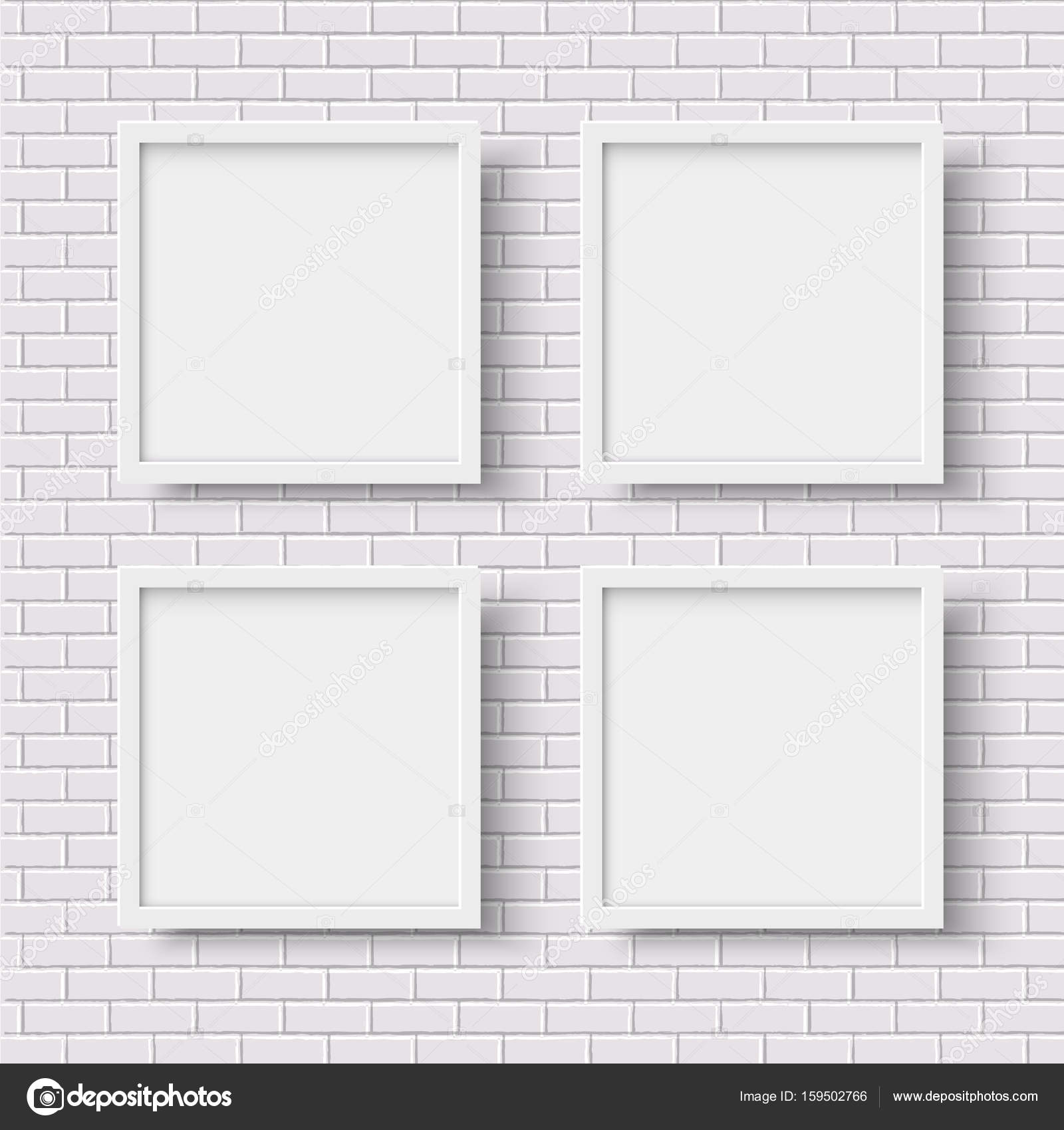 four white square empty frames stock vector 159502766 - White Square Frames