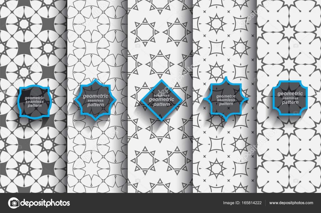 Conjunto de patrones islámicos sin problemas delicados — Archivo ...