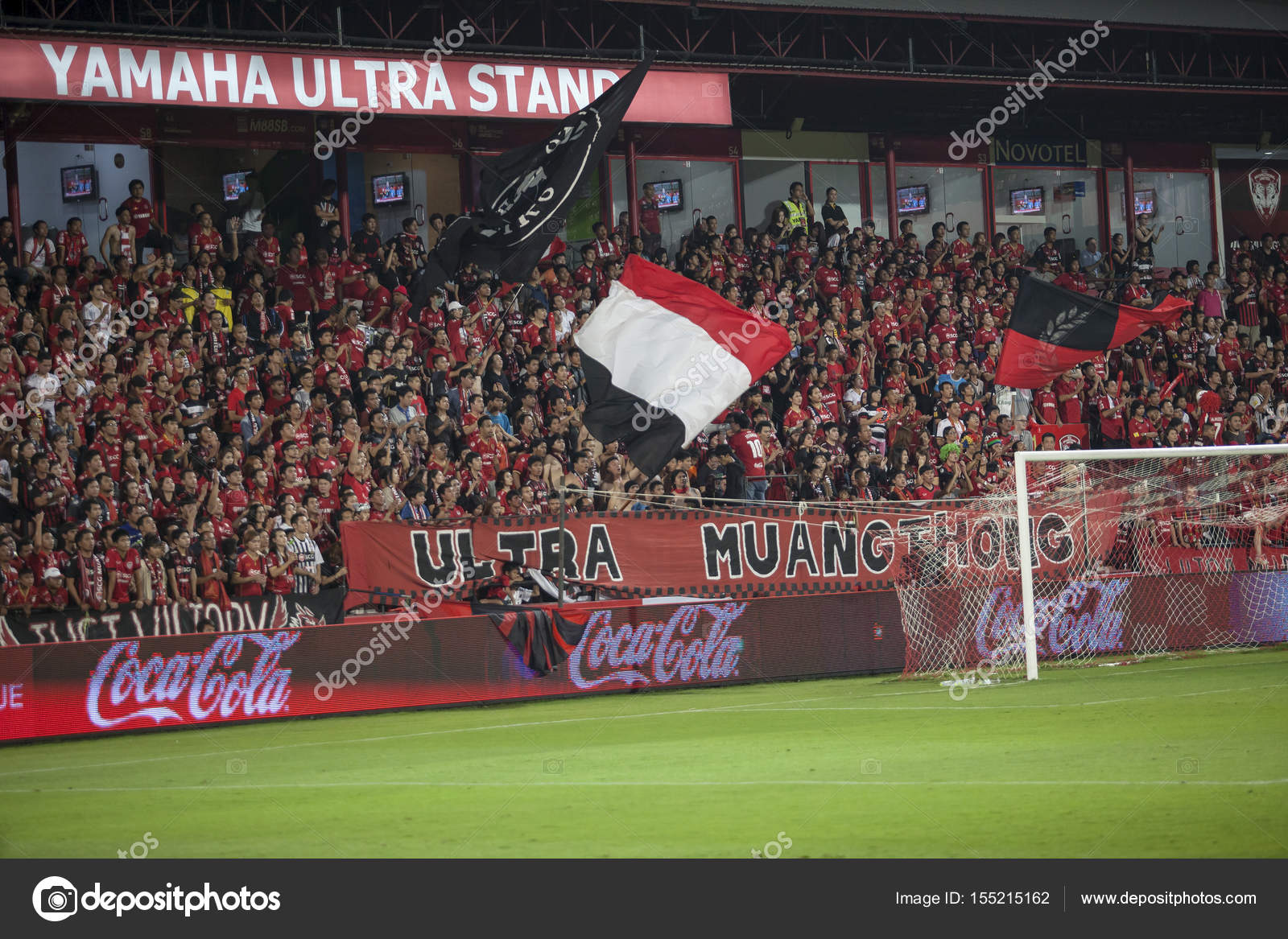 Bangkok Thailand 15 2014 Marz Ultra Muang Fussball Fan