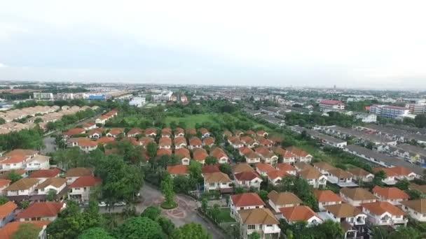 Luftbild von Heimatdorf in Thailand für Raumplanung und Immobiliengeschäft Eigenschaft verwenden