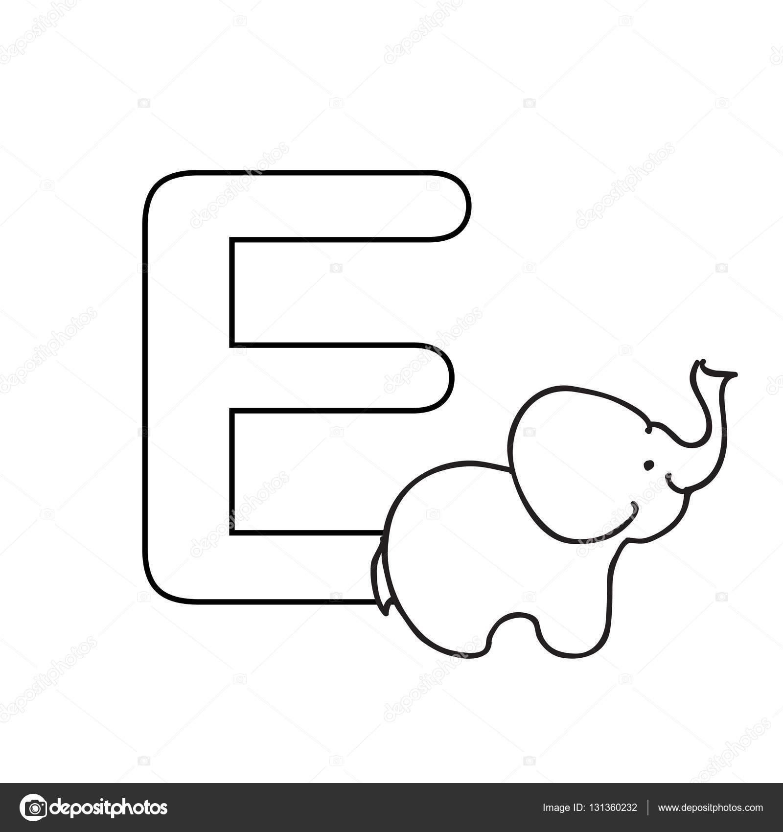 Baby Tiere Alphabet Kinder Malvorlagen — Stockfoto © Nuarevik #131360232