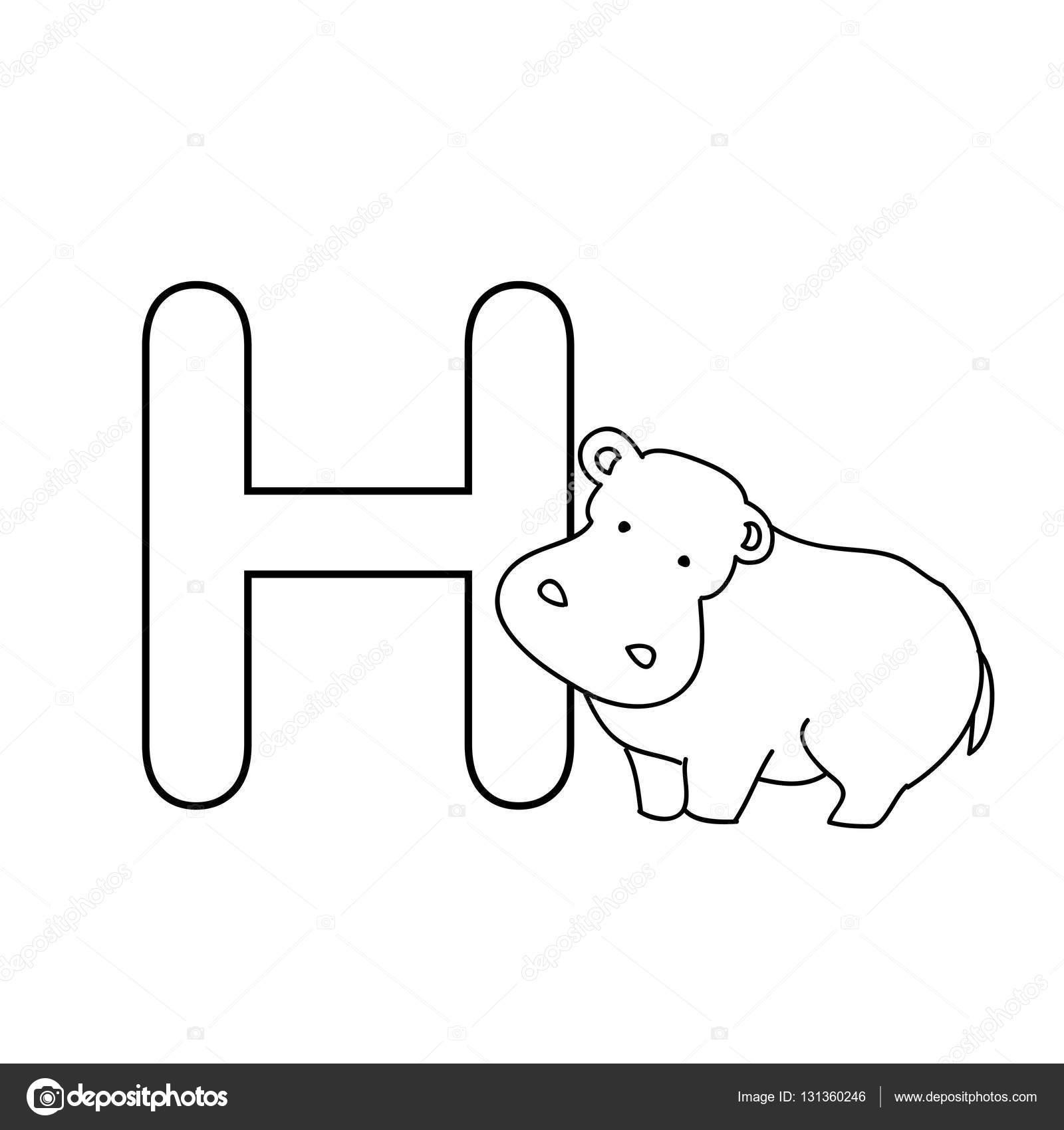 Baby Tiere Alphabet Kinder Malvorlagen — Stockfoto © Nuarevik #131360246