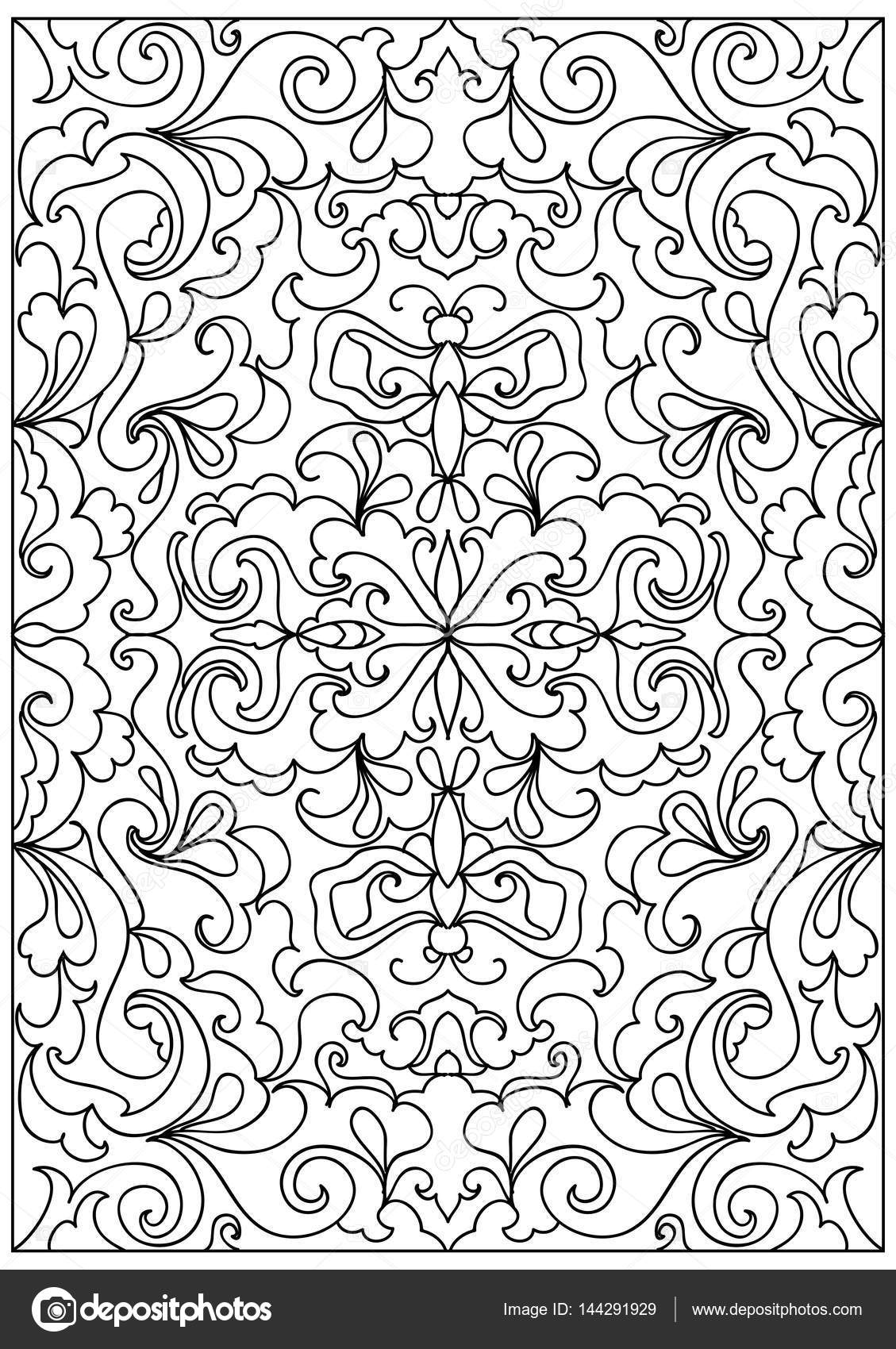 Decorative floral frame coloring page — Stock Vector © Nuarevik ...