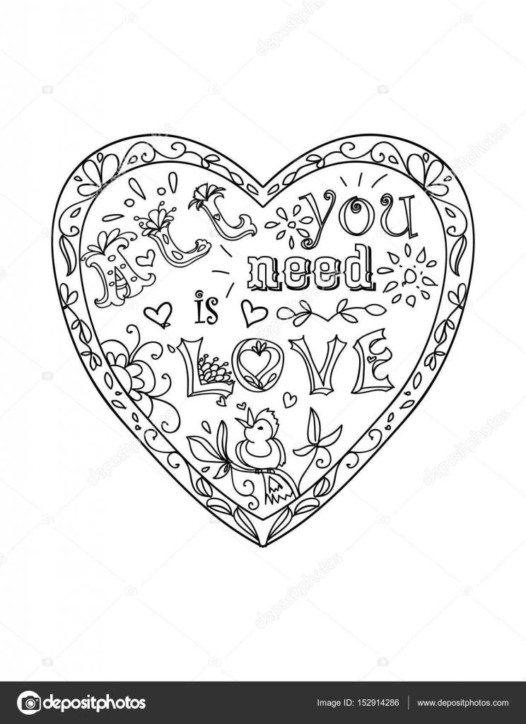 Página para colorear de decorativo con marco en forma de corazón ...