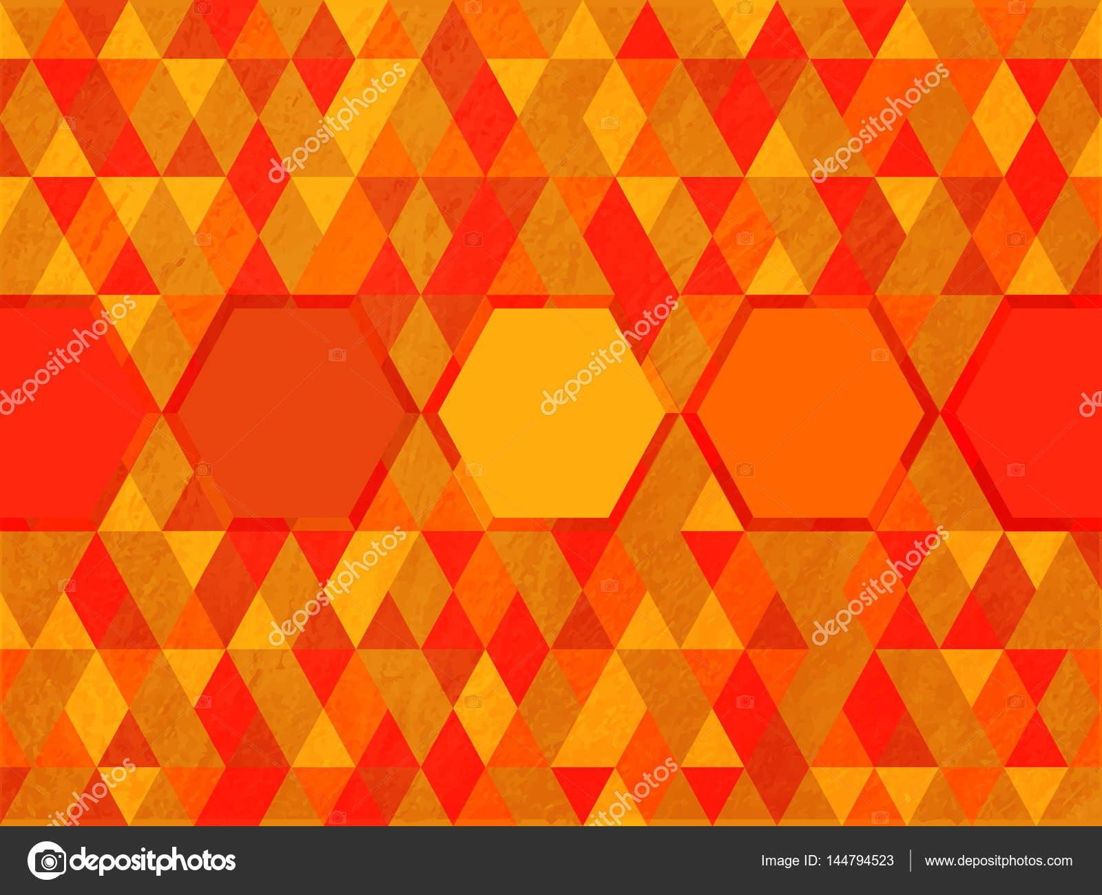 Octogone sur fond de couleur chaude de triangle — Image vectorielle ...