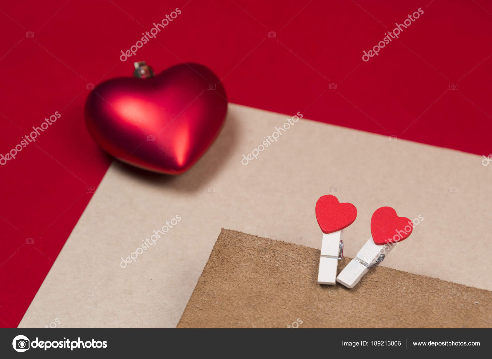 Valentine Gift Card Use Background Stock Photo Chokniti 189213806
