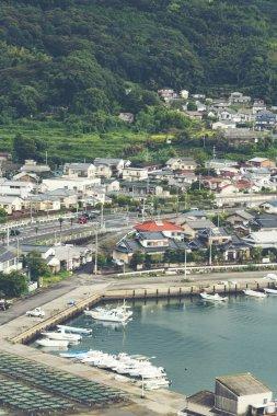 Oita, Fukuoka - October 1 : A view of Beppu bay, Beppu city, Oita prefecture, fukuoka,  Japan