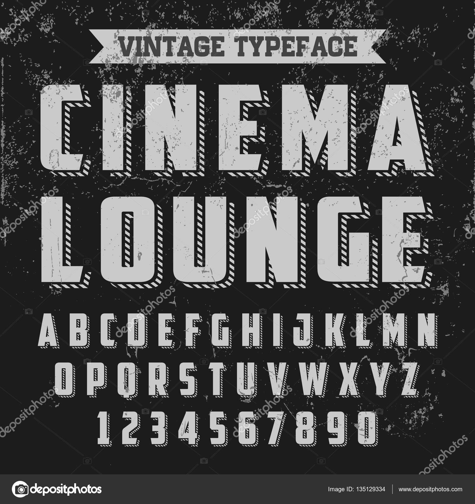 Tipografia vintage - sala de Cinema — Vetores de Stock © bowxwod