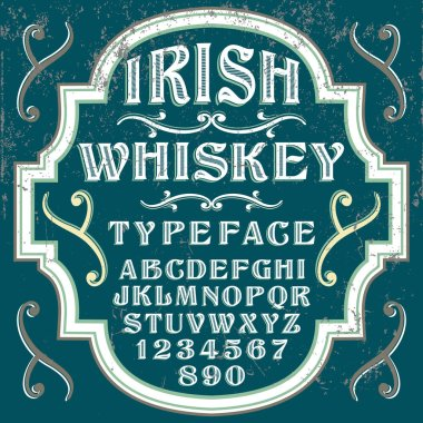 Irish Whiskey vintage font