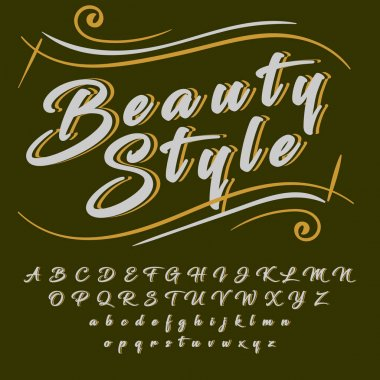 Beauty style typeface
