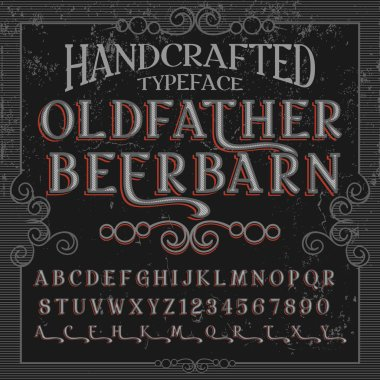 Old Father Beer Barn Handcrafted typeface