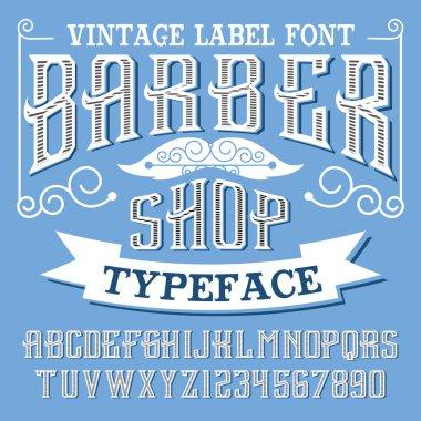 Handcrafted vintage font.