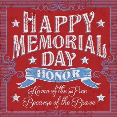 Vintage Happy Memorial Day card