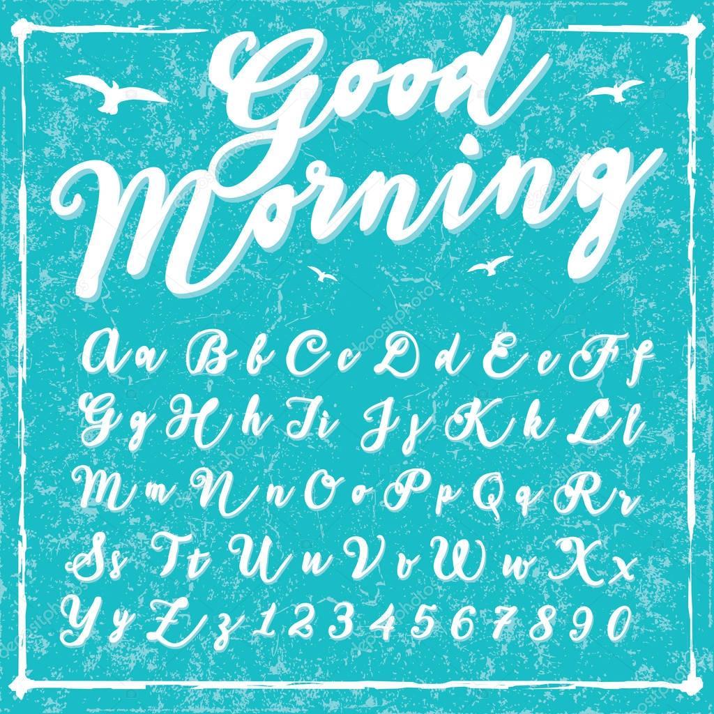 Script handwriting font - Good Morning