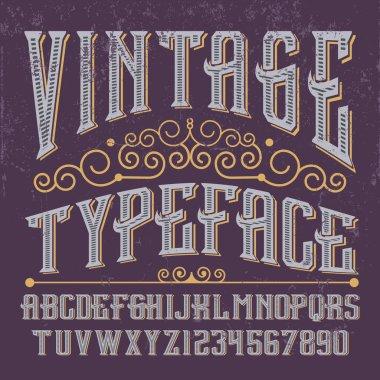 Vintage alphabet  Font