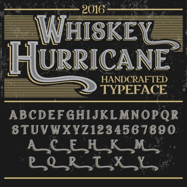 Whiskey Hurricane Handcrafted typeface
