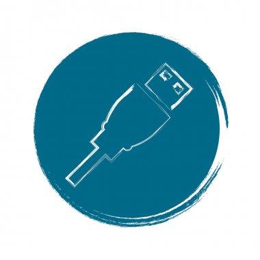 Usb flash drive web icon