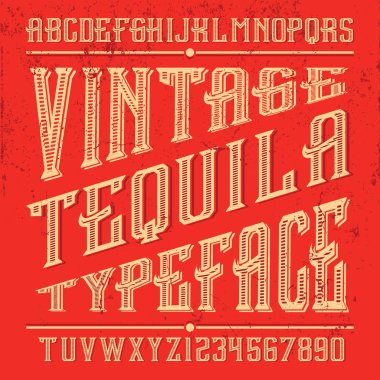 Hand crafted font for alcohol