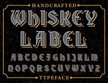 Vintage font type