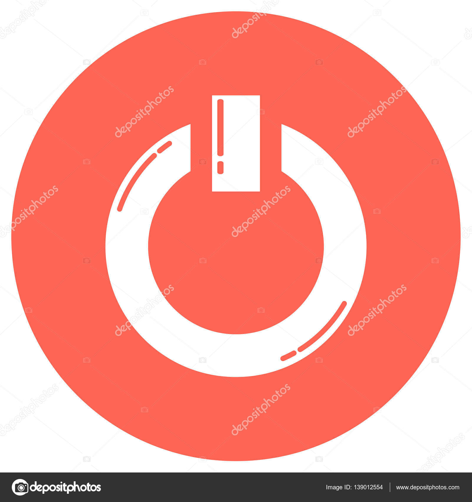 Power Onoff Icon Stock Vector Bowxwod 139012554