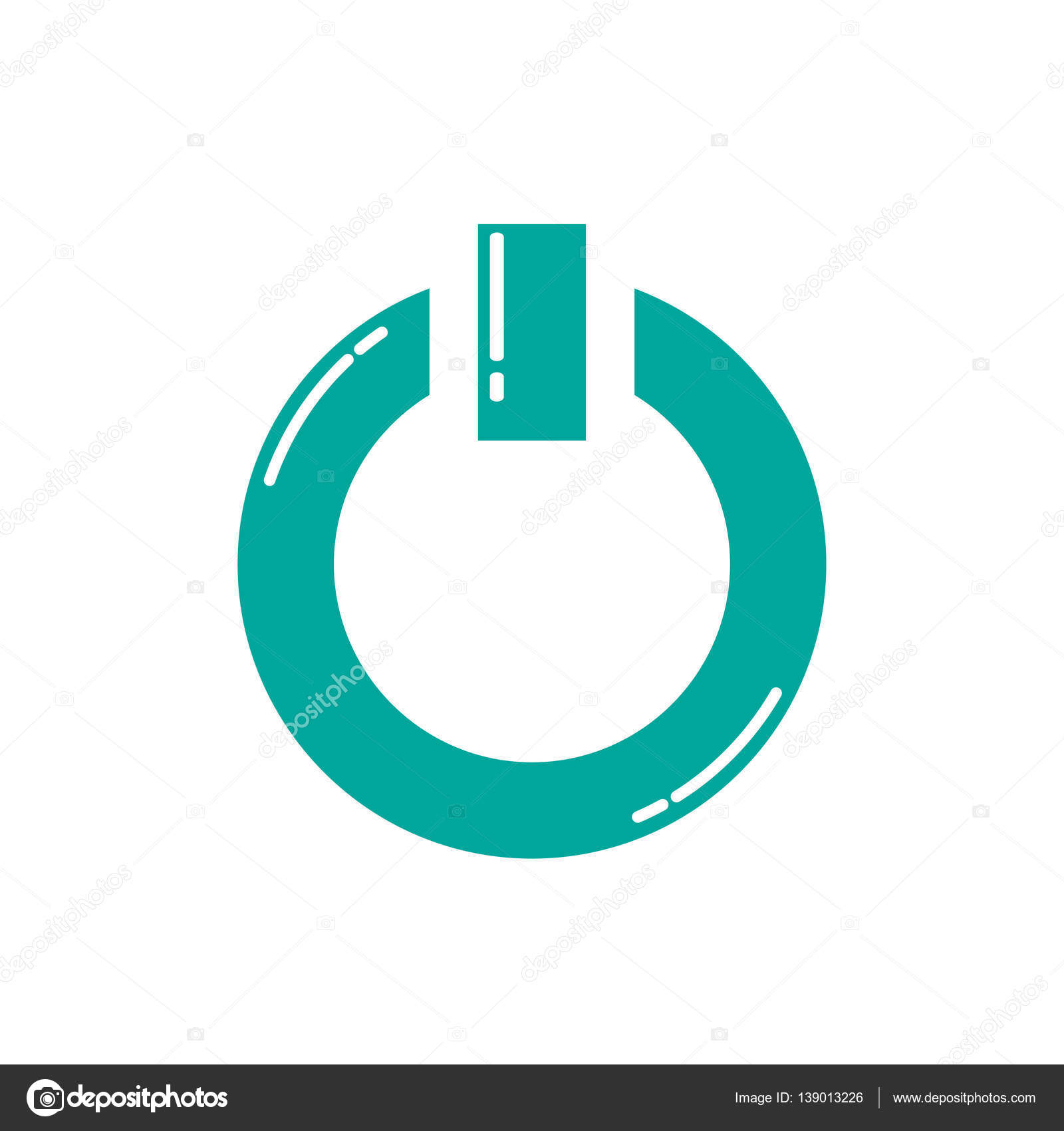 Power Onoff Icon Stock Vector Bowxwod 139013226