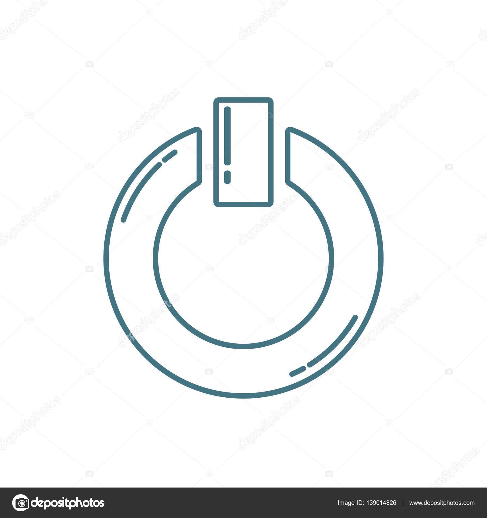 Ein-/ausschalten-Symbol — Stockvektor © bowxwod #139014826