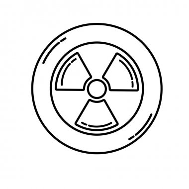 Radiation hazard icon