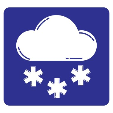 Web flat icon. Cloud and snow illustration stock vector