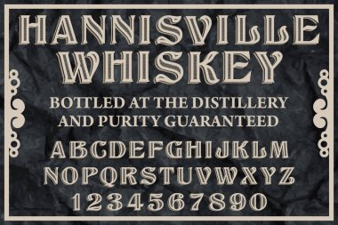 Whiskey Label typeface