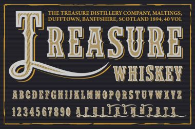 Treasure Whiskey typeface