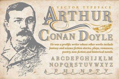 Vintage ornamental font