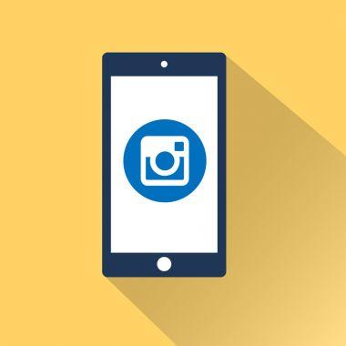 Flat smartphone icon