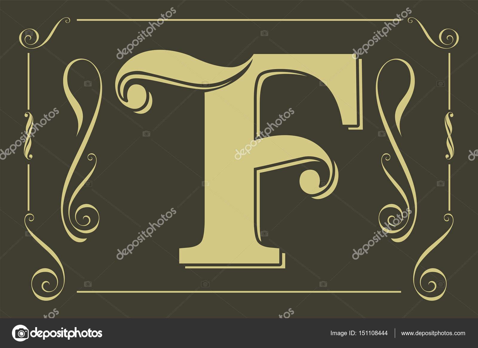 131e0715b Elegante letra f — Vetores de Stock © bowxwod  151108444