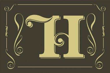 Elegant letter h