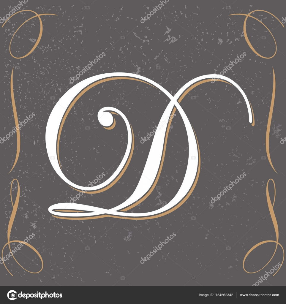 Old Style Vintage Letter Design Hand Crafted Calligraphic Sample D Vector By Bowxwod