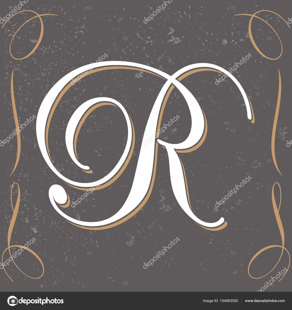 Vintage Letter R Design Stock Vector C Bowxwod 154563050