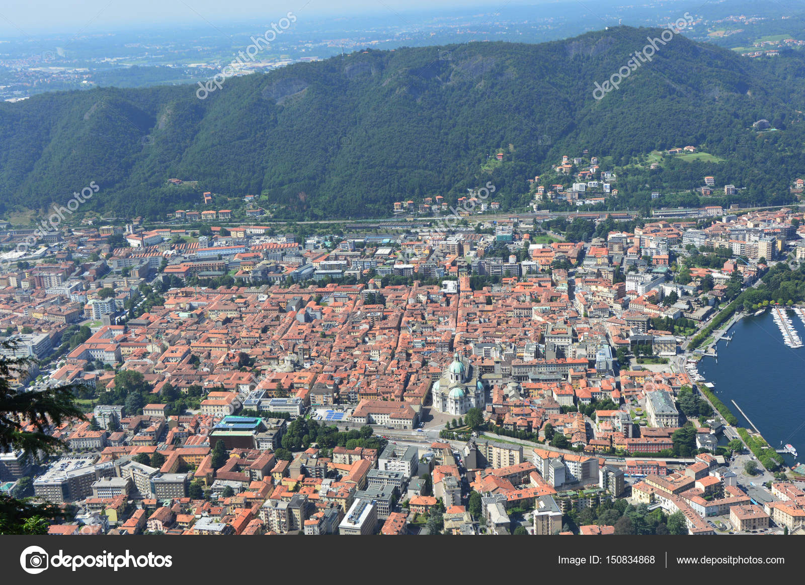 View Of Como City From Brunate Panorama Viewpoint