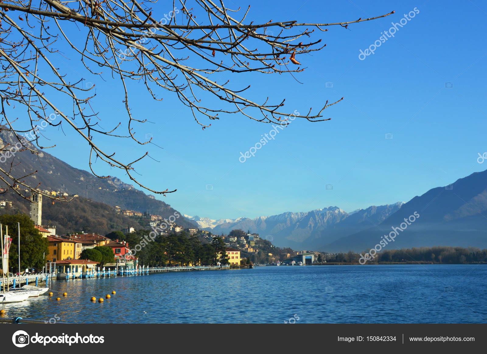 イセオ湖、ローヴェレ、イタリア...