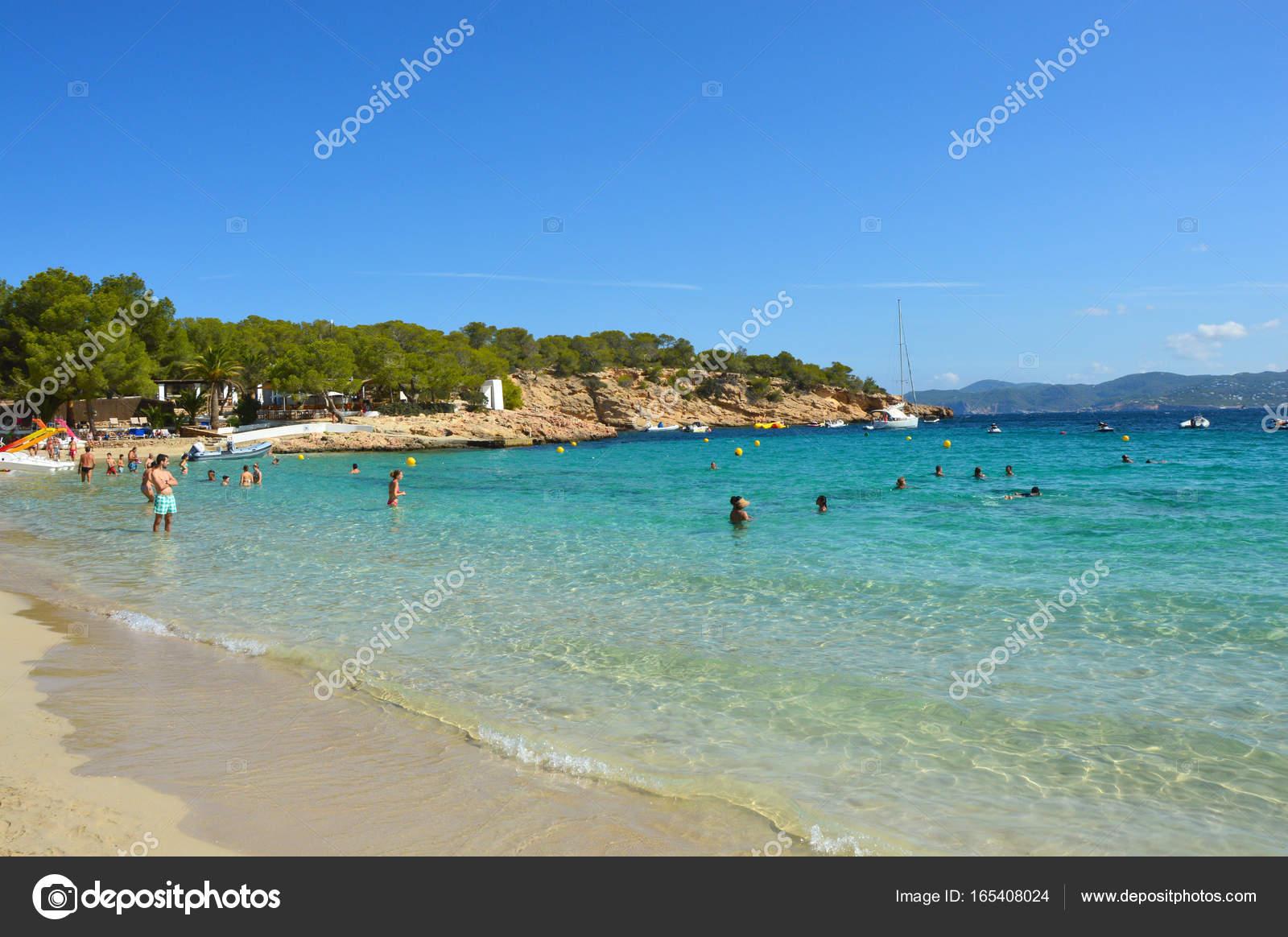 Amazing crystalline water of Cala Bassa beach, Ibiza, Spain